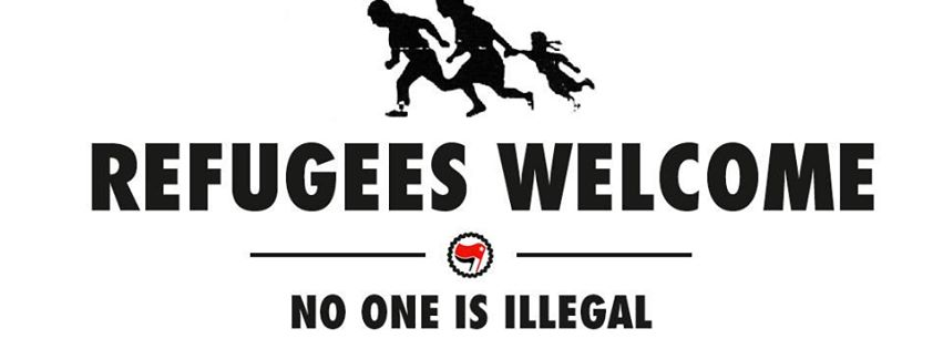 Refugees welcome antifa