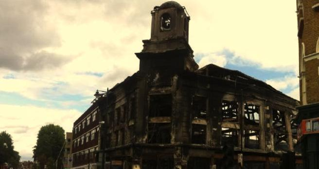 Burned Warehouse